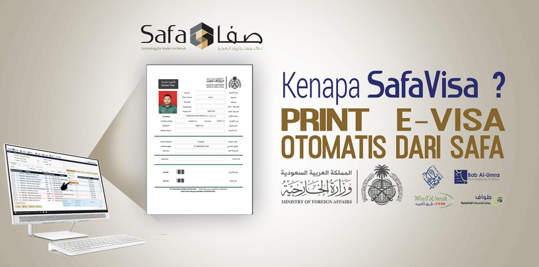 Fitur SafaVisa Print E-Visa Otomatis